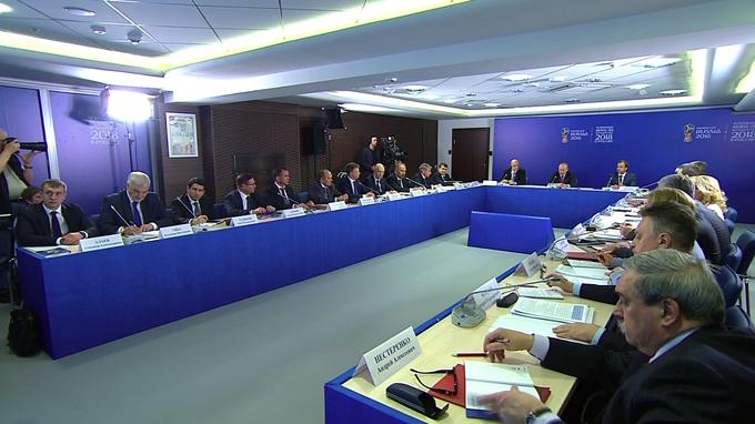Владимир Путин провёл в Сочи заседание наблюдательного совета оргкомитета «Россия-2018»