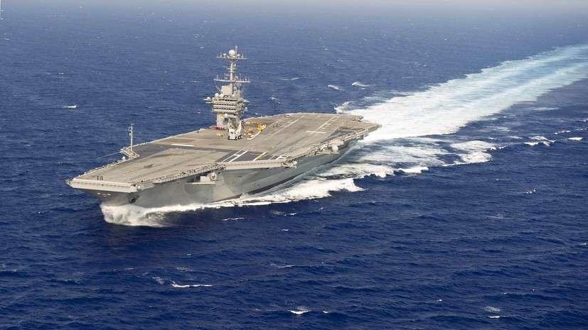 Зачем авианосная группа пиндостана начала наносить удары по Сирии