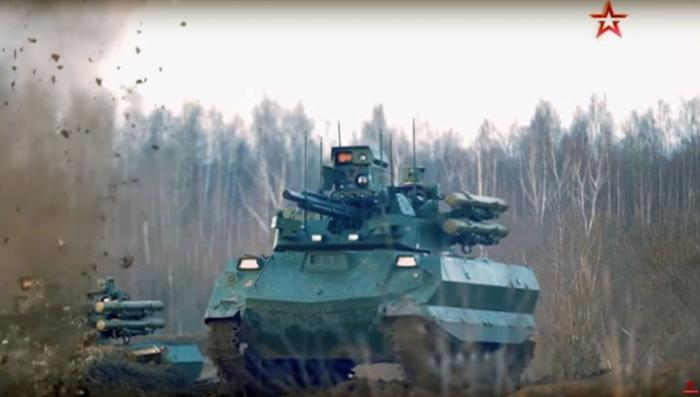 Видео испытаний российских боевых роботов «Уран-9»