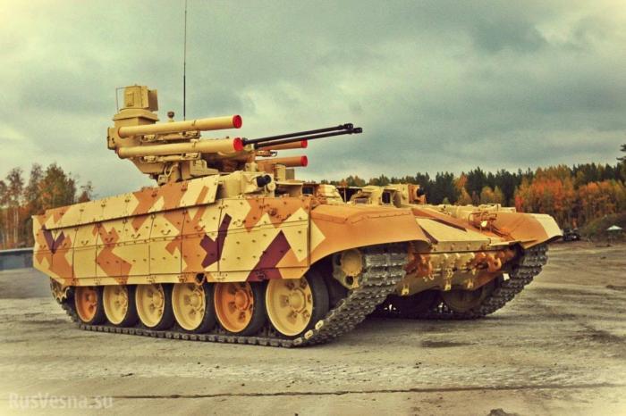 Минобороны России продемонстрировала огневую мощь Терминатора-2 в действии
