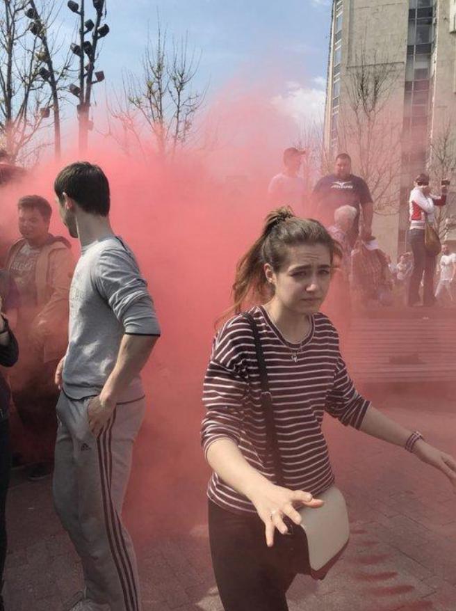 Что 5 мая творили «онижедети» навальнята на несанкционированном митинге