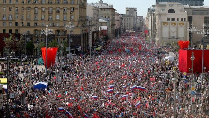 В Москве более миллиона человек встали в строй «Бессмертного полка»