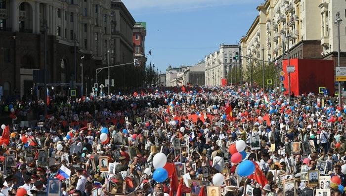 В шествии Бессмертного полка приняли участие более 10 миллионов Россиян