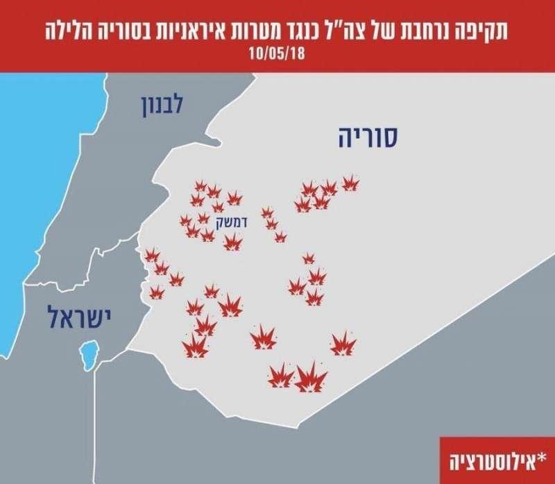 Последствия обмена ударами между Израилем и Ираном в районе Голанских высот