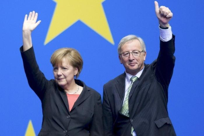 Клод Юнкер поддержал Ангелу Меркель в бунте против гегемонии США