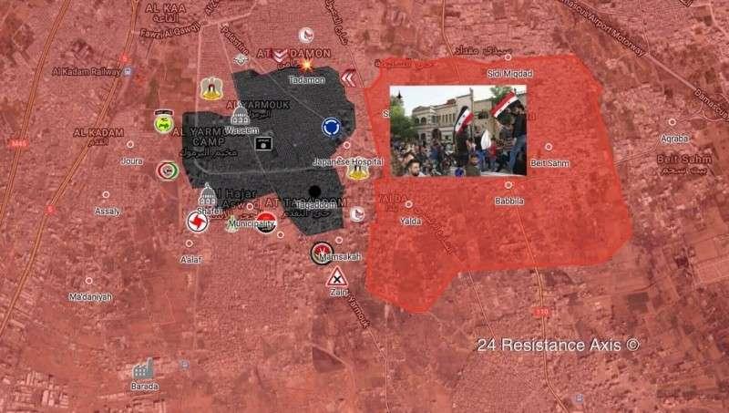В Сирии битва за Южный Дамаск входит в решающую фазу
