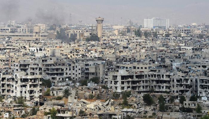 Сирия: русская военная полиция приступила к патрулированию освобождённой части Дамаска