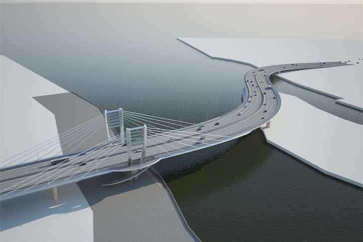 ВСанкт-Петербурге открыли мост Бетанкура инабережную Макарова