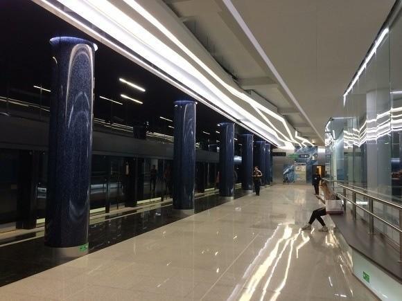 В Санкт-Петербурге станция метро «Новокрестовская» приняла первых пассажиров