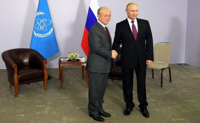 Встреча Владимира Путина сглавой МАГАТЭ Юкия Амано