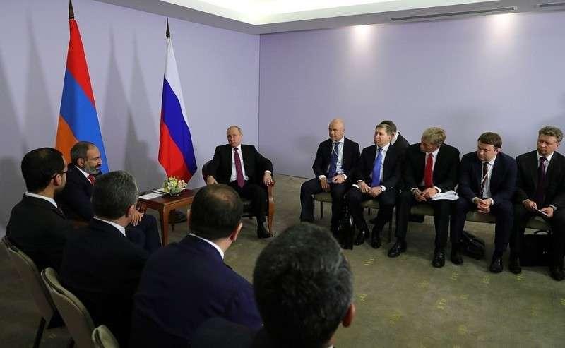 Навстрече сПремьер-министром Республики Армения Николом Пашиняном.