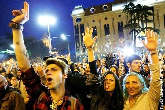 В Грузии победил «наркотический майдан» в буквальном смысле слова