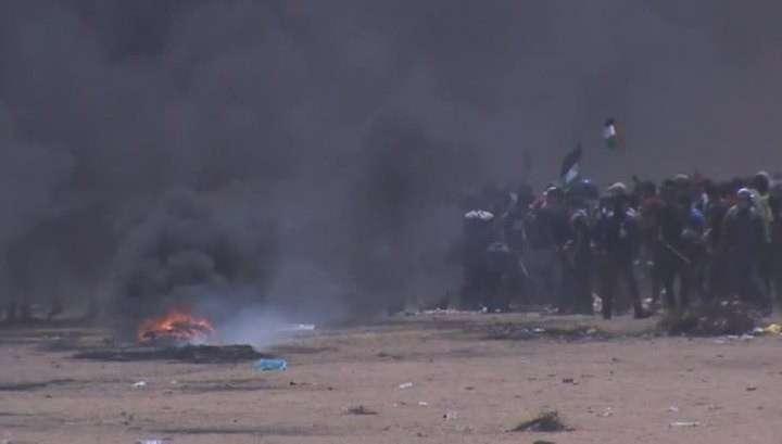 Евреи продолжают расстреливать протестующих палестинцев убито уже 38, ранено до 1,7 тысячи