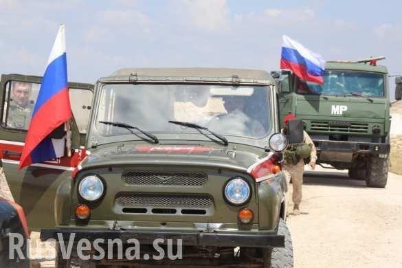 Армия России вошла в Растанский котёл, боевики трясут автоматами и поднимают флаги Сирии