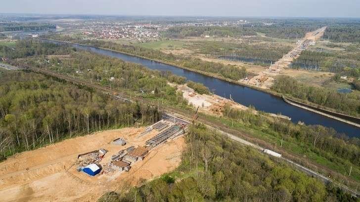 ЦКАД: Мост через пойму канала имени Москвы.