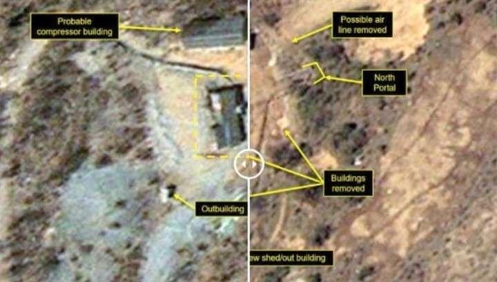 В КНДР начали демонтаж крупнейшего ядерного полигона