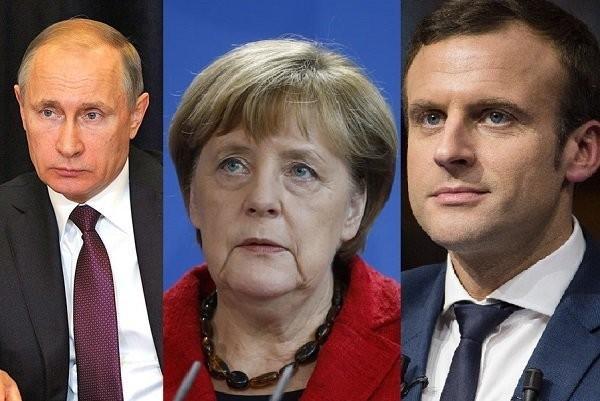 Путин не желает обсуждать санкции с Меркель и Макроном. Сами вляпались – сами разбирайтесь