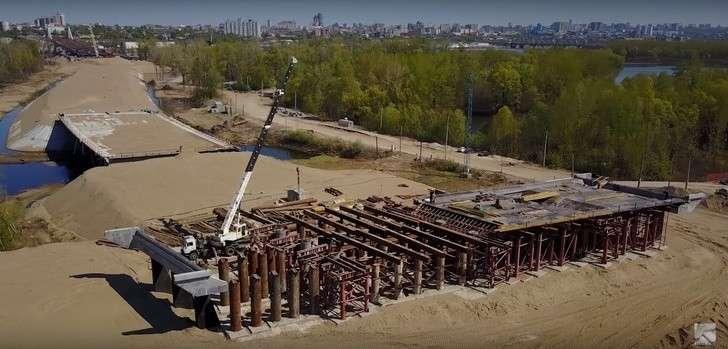 Строительство Фрунзенского моста вСамаре