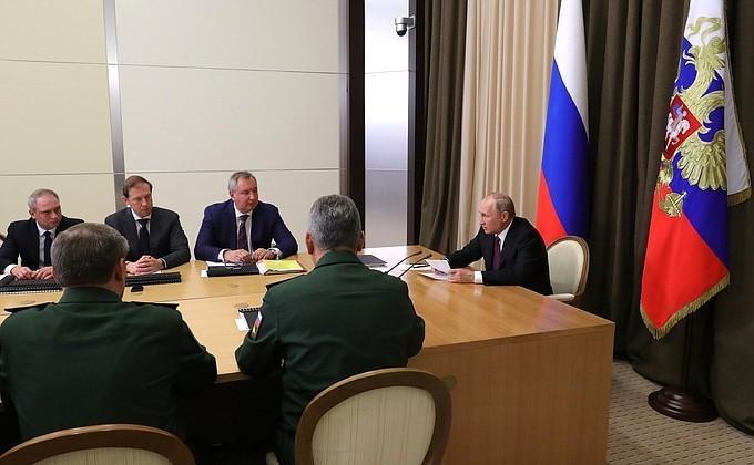 Владимир Путин призвал поддержать набранные за последние годы высокие темпы перевооружения