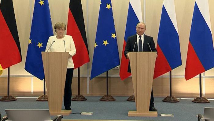 Пресс-конференция Владимира Путина и Ангелы Меркель. Итоги