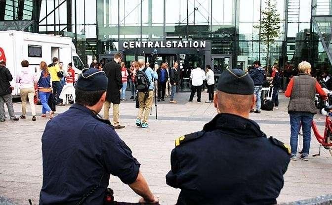 На фото: прибытие беженцев в в Мальмё