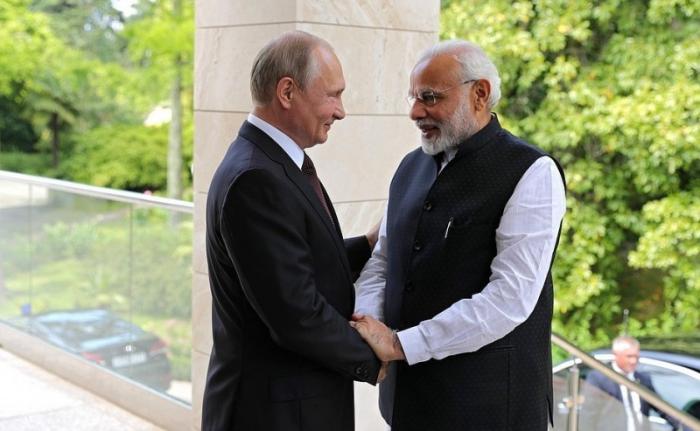 В Сочи прошла встреча Владимира Путина с Премьер-министром Индии Нарендрой Моди