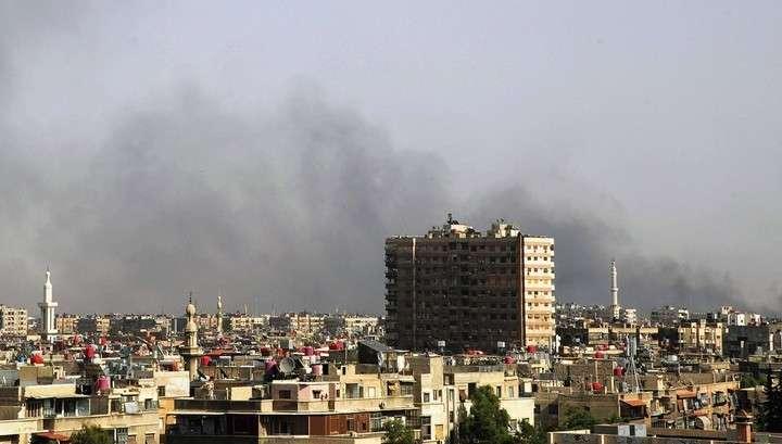 В пригороде Дамаска российские военные раздали 10 тонн продуктов