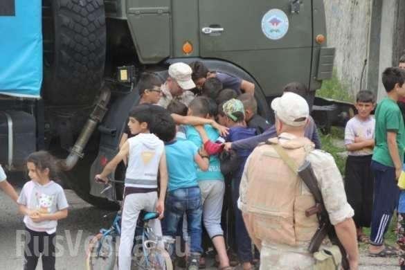 «Братуха!» – сирийские дети весело благодарят русских военных и Россию | Русская весна