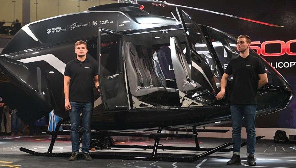 В Москве представили новый сверхлёгкий многоцелевой российский вертолёт