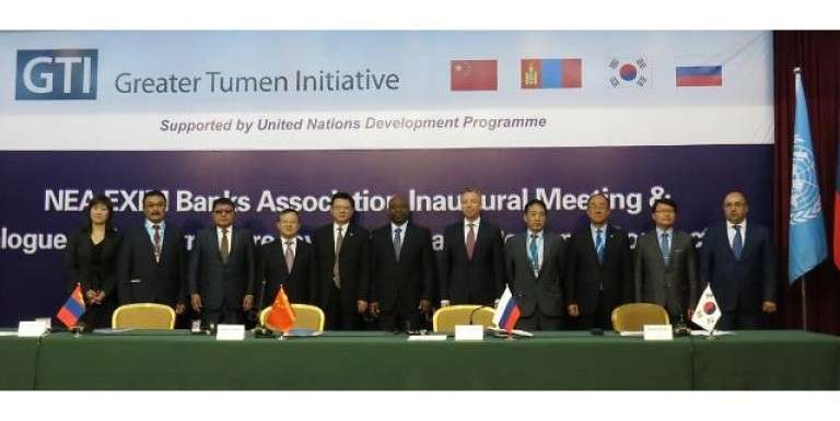 Export-import banks of Korea, China, Russia, and Mongolia signed an agreement to establish Northeast Asian Export-Import Banks Council on Sept. 18 in Yanji, China.