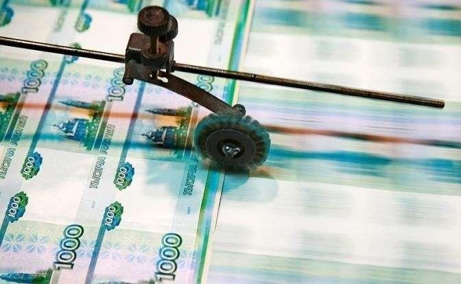На фото:  печать тысячерублевых банкнот