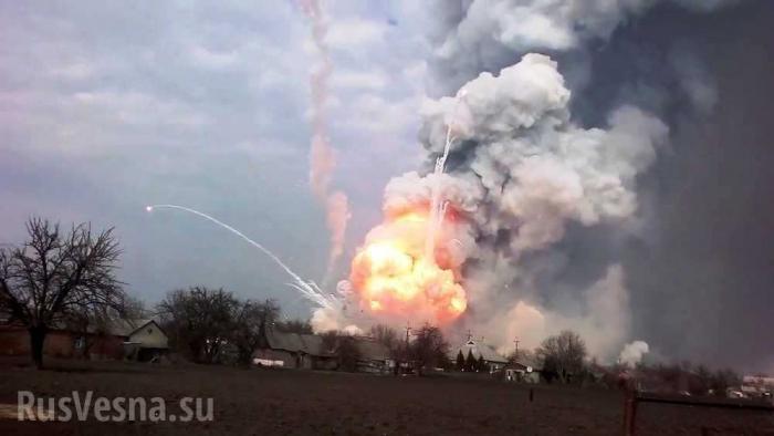 Старая Николаевка: на Донбассе горят и взрываются склады карателей ВСУ