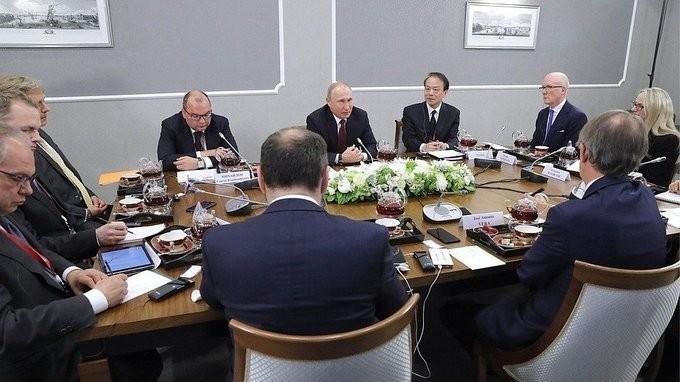 Встреча Владимира Путина с руководителями ведущих мировых информационных агентств