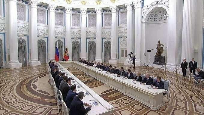 Совещание сновым составом Правительства