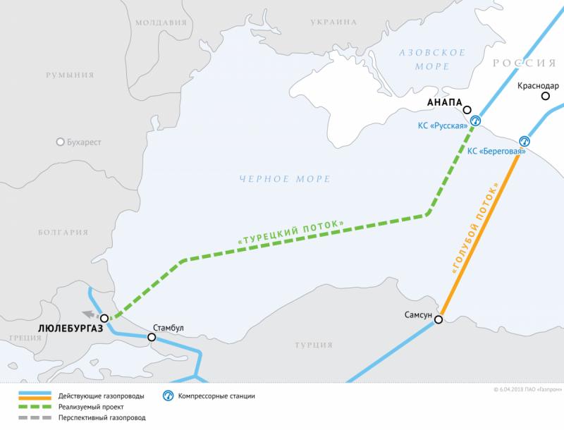 Сухопутный участок второй нитки Турецкого потока. Договор подписан