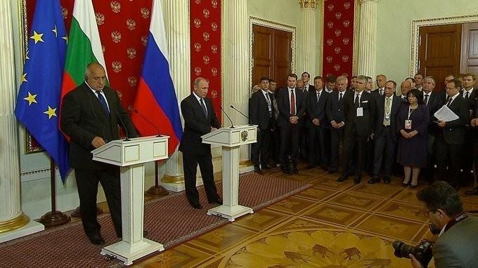 Владимир Путин и Премьер-министр Болгарии Бойко Борисов провели пресс-конференцию
