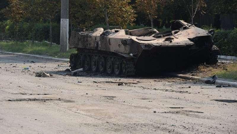 Видео уничтожения техники карателей ВСУ под Горловкой