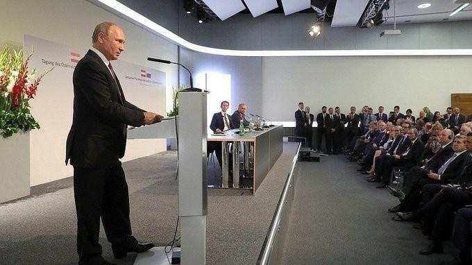 Владимир Путин встретился спредставителями деловых кругов России иАвстрии