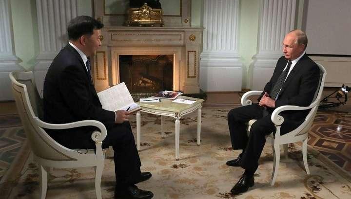 Владимир Путин дал большое интервью СМИ Китая