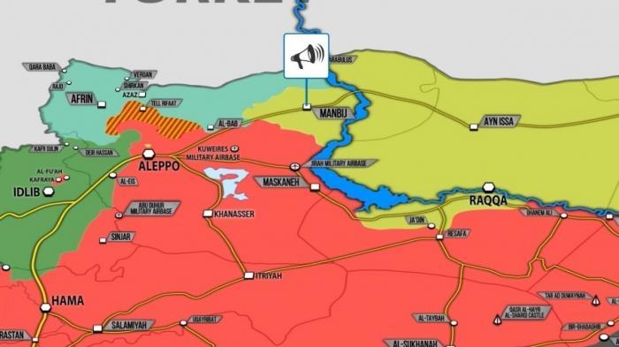 Сирия. Курдские отряды покидают город Манбидж под давлением турок и американцев