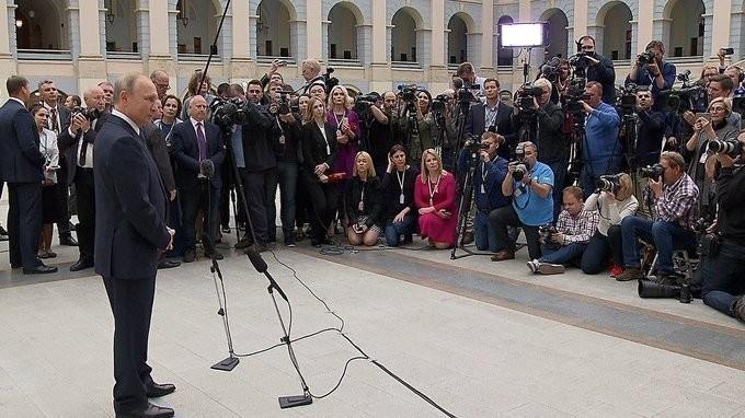 Владимир Путин ответил на вопросы журналистов по итогам «Прямой линии 2018»
