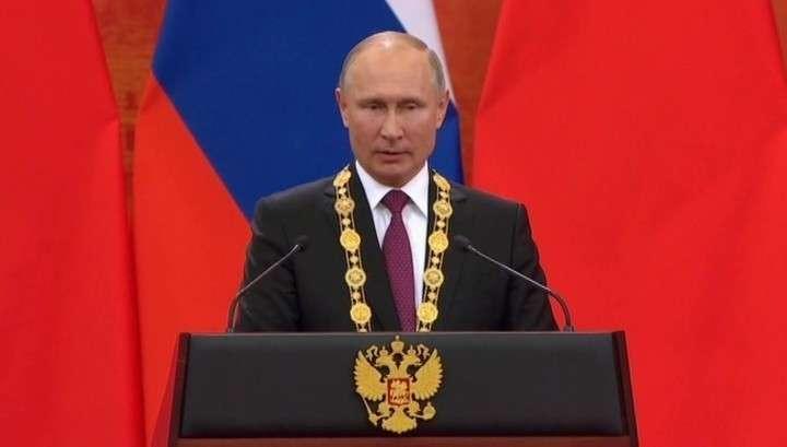 Владимир Путин стал первым кавалером высшего ордена Китая