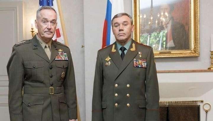 Начальники штабов армий России и США шесть часов обсуждали ситуацию в Сирии