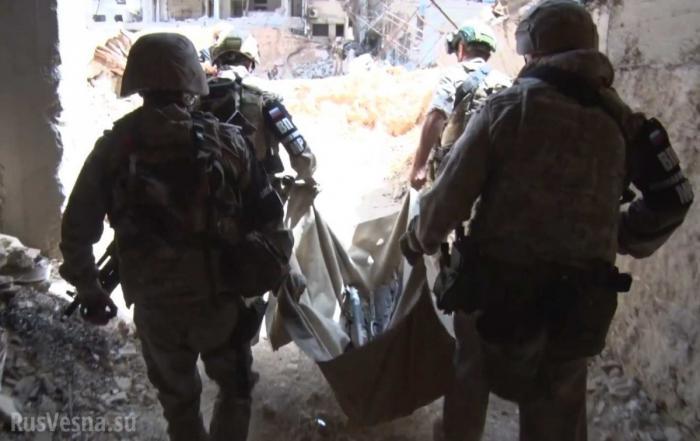 Сирия: Работа спецназа России в руинах Восточной Гуты