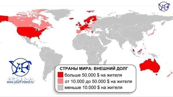 Санкции против России и самый большой долг на душу населения. Совпадение?
