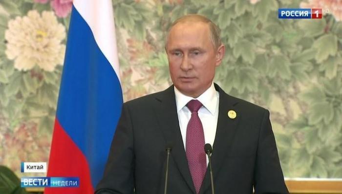 Владимир Путин рассказал о телефонном разговоре с Порошенко и встрече с Трампом