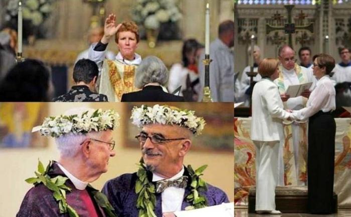 Англиканская церковь в США толерантно убирает термины «муж» и «жена»