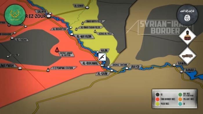 Сирия. Курды и ИГИЛ воюют против правительственной армии на берегу Ефрата