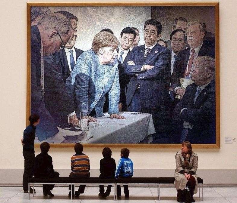 Фото Трампа и Меркель – показатель наметившегося раскола в банде убийц, грабителей и воров