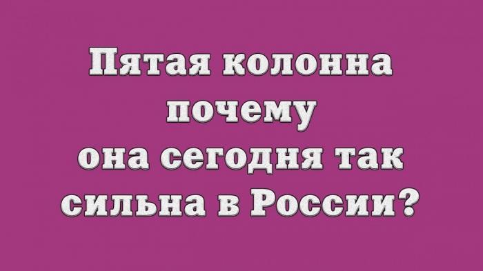 Пятая колонна в России – почему она сегодня так сильна?